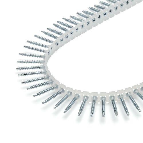 Rakbandad hårdgipsskruv för trä-, stål- och förstärkningsregel max 2 mm